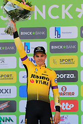 Wout Van Aert (BEL) Team Jumbo-Visma finishes in 2nd place at the end of the 2019 E3 Harelbeke Binck Bank Classic 2019 running 203.9km from Harelbeke to Harelbeke, Belgium. 29th March 2019.<br /> Picture: Eoin Clarke | Cyclefile<br /> <br /> All photos usage must carry mandatory copyright credit (© Cyclefile | Eoin Clarke)