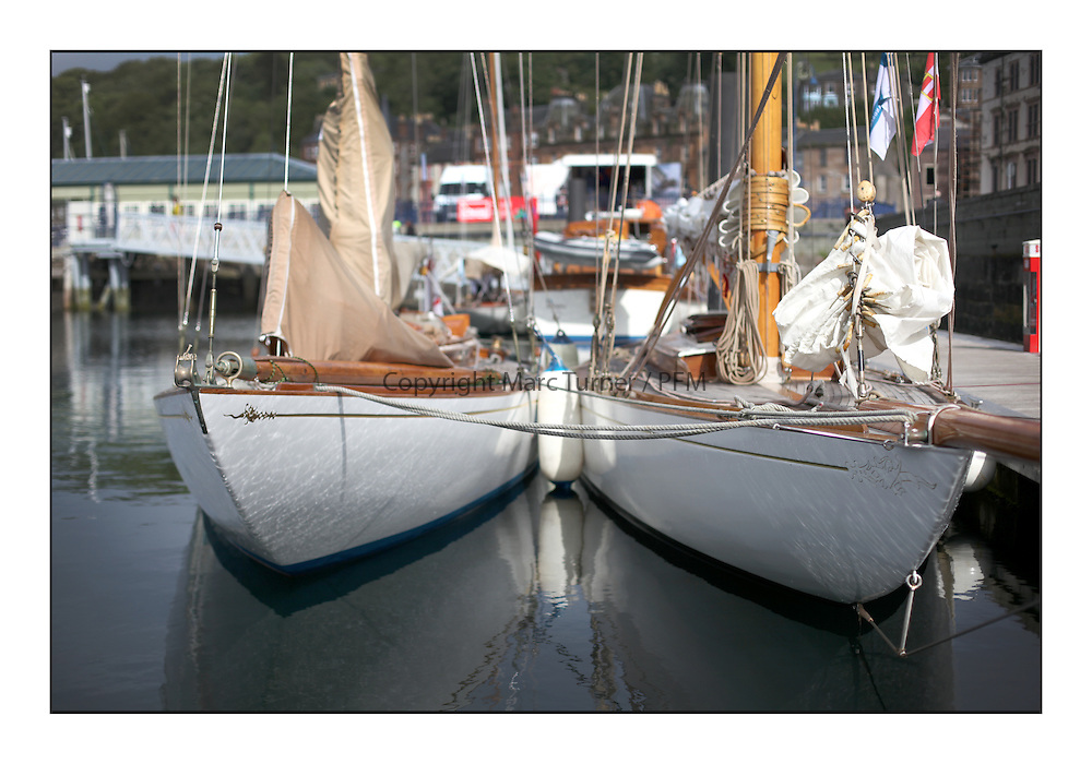Day three of the Fife Regatta, Cruise up the Kyles of Bute to Tighnabruaich<br /> <br /> Mikado, Sir Micheal Briggs, GBR Burmudian Cutter, Wm Fife 3rd, 1904, The Truant, Ross Ryan, GBR, Gaff Cutter 8mR, Wm Fife 3rd, 1910<br /> <br /> * The William Fife designed Yachts return to the birthplace of these historic yachts, the Scotland&rsquo;s pre-eminent yacht designer and builder for the 4th Fife Regatta on the Clyde 28th June&ndash;5th July 2013<br /> <br /> More information is available on the website: www.fiferegatta.com
