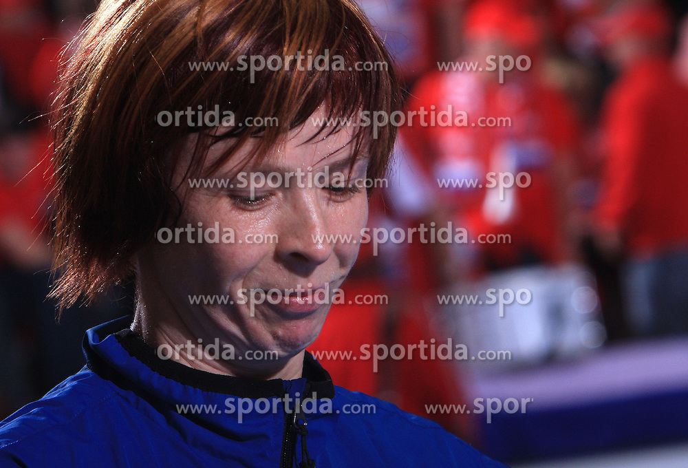 Sergeja Stefanisin (12) at handball match of 2nd Round of EHF Women`s Championsleague between RK Krim Mercator (SLO) and Metz Handball (FRA), in Arena Kodeljevo, Ljubljana, Slovenia, on November 9, 2008. Metz  won match against RK Krim Mercator with 31:26.