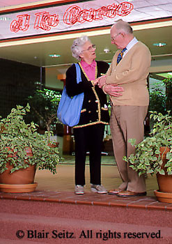 Active Aging Senior Citizens, Retired, Activities, Shopping at Mall