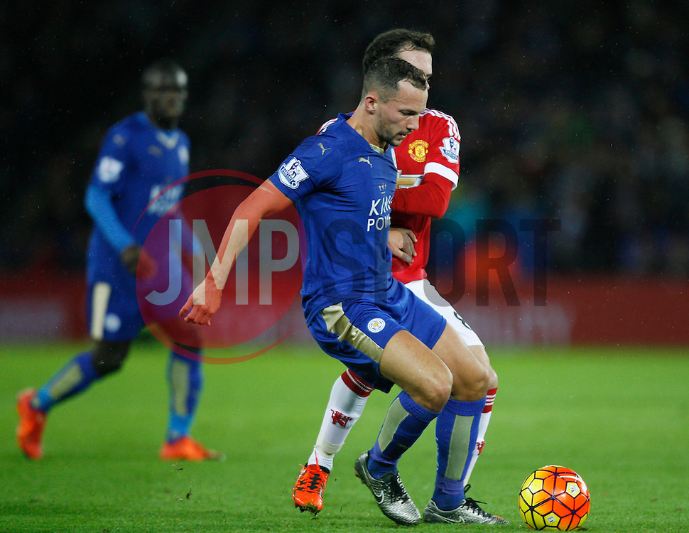 Daniel Drinkwater of Leicester City (L) and Juan Mata of Manchester United in action  - Mandatory byline: Jack Phillips/JMP - 07966386802 - 28/11/2015 - SPORT - FOOTBALL - Leicester - King Power Stadium - Leicester City v Manchester United - Barclays Premier League