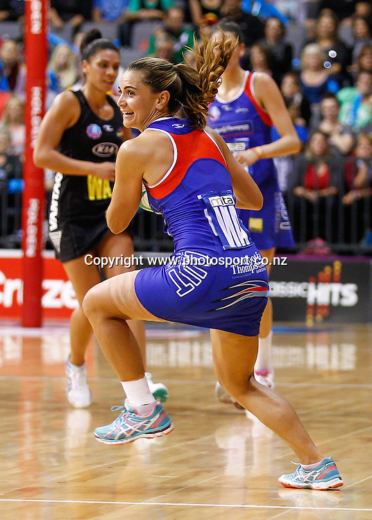 Northern Mystic's Temepara Bailey in action during the ANZ Championship netball match - Waikato BOP Magic v Northern Mystics at Claudelands Arena, Hamilton, New Zealand on Saturday 20 April 2014.  Photo:  Bruce Lim / www.photosport.co.nz