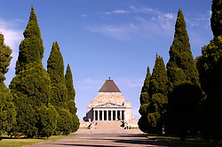 Shrine of Remembrance in central Melbourne Australia