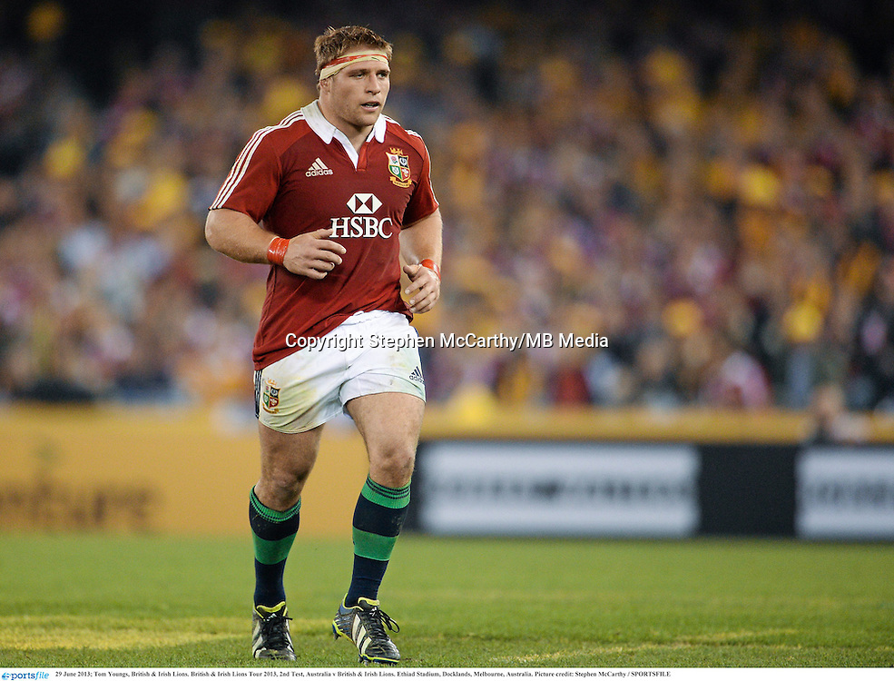 29 June 2013; Tom Youngs, British & Irish Lions. British & Irish Lions Tour 2013, 2nd Test, Australia v British & Irish Lions. Ethiad Stadium, Docklands, Melbourne, Australia. Picture credit: Stephen McCarthy / SPORTSFILE