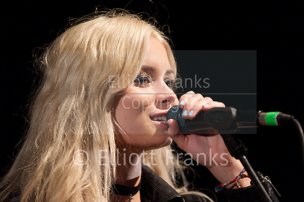 Nina Nesbitt <br /> performing live at The Shepherd's Bush Empire, London, UK <br /> 25th March 2014 <br /> <br /> Nina Nesbitt is a Scottish singer-songwriter and guitarist from Edinburgh She is best known for her biggest hit single &quot;Stay Out&quot;, which peaked at number twenty one on the UK Singles Chart in April 2013, becoming her first top forty single. She currently has an album out called Peroxide.