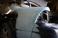Rear of car wreckage