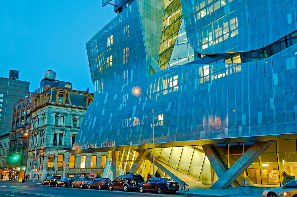 NYC, NY, Cooper Union new Academic building designed by Thom Mayne of firm Morphosis