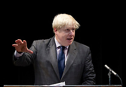 © Licensed to London News Pictures. 19/10/2012. LONDON, UK. Boris Johnson, the Mayor of London, is seen at Pimlico Academy in London today (19/12/12) as he delivers a talk on making London a world leader in Education. Photo credit: Matt Cetti-Roberts/LNP