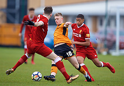 WOLVERHAMPTON, ENGLAND - Tuesday, December 19, 2017: Wolverhampton Wanderer's Taylor Perry during an Under-18 FA Premier League match between Wolverhampton Wanderers and Liverpool FC at the Sir Jack Hayward Training Ground. (Pic by David Rawcliffe/Propaganda)