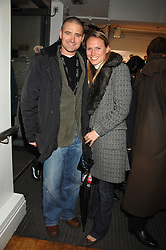 CLARE HARDING and actor TOM CHAMBERS at a party to celebrate the launch of the new Fiat 500 car held at the London Eye, Westminster Bridge Road, London on 21st January 2008.<br /><br />NON EXCLUSIVE - WORLD RIGHTS (EMBARGOED FOR PUBLICATION IN UK MAGAZINES UNTIL 1 MONTH AFTER CREATE DATE AND TIME) www.donfeatures.com  +44 (0) 7092 235465