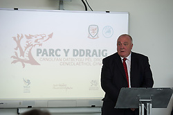 NEWPORT, WALES - Saturday, April 20, 2013: FAW President Trefor Lloyd-Hughes at the opening of the FAW National Development Centre in Newport. (Pic by David Rawcliffe/Propaganda)