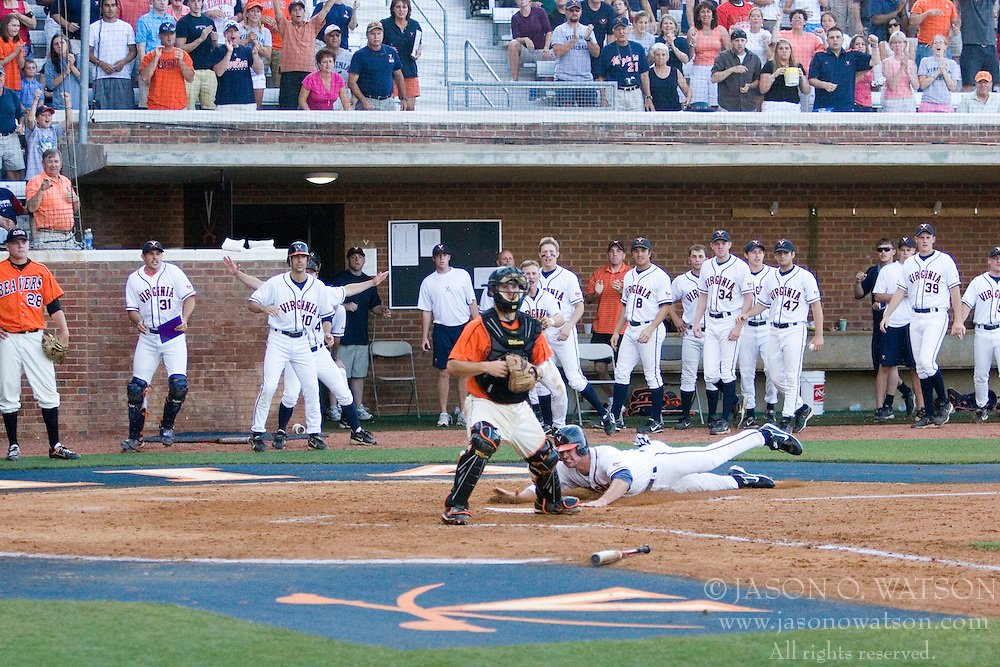 The Oregon State Beavers defeated the Virginia Cavaliers 5-3 in Game 6 of the NCAA World Series Charlottesville Regional held at Davenport Field in Charlottesville, VA on June 4, 2007.