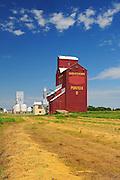 Grain elevators<br /> Ponteix<br /> Saskatchewan<br /> Canada