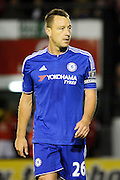 John Terry during the Capital One Cup match between Walsall and Chelsea at the Banks's Stadium, Walsall, England on 23 September 2015. Photo by Alan Franklin.
