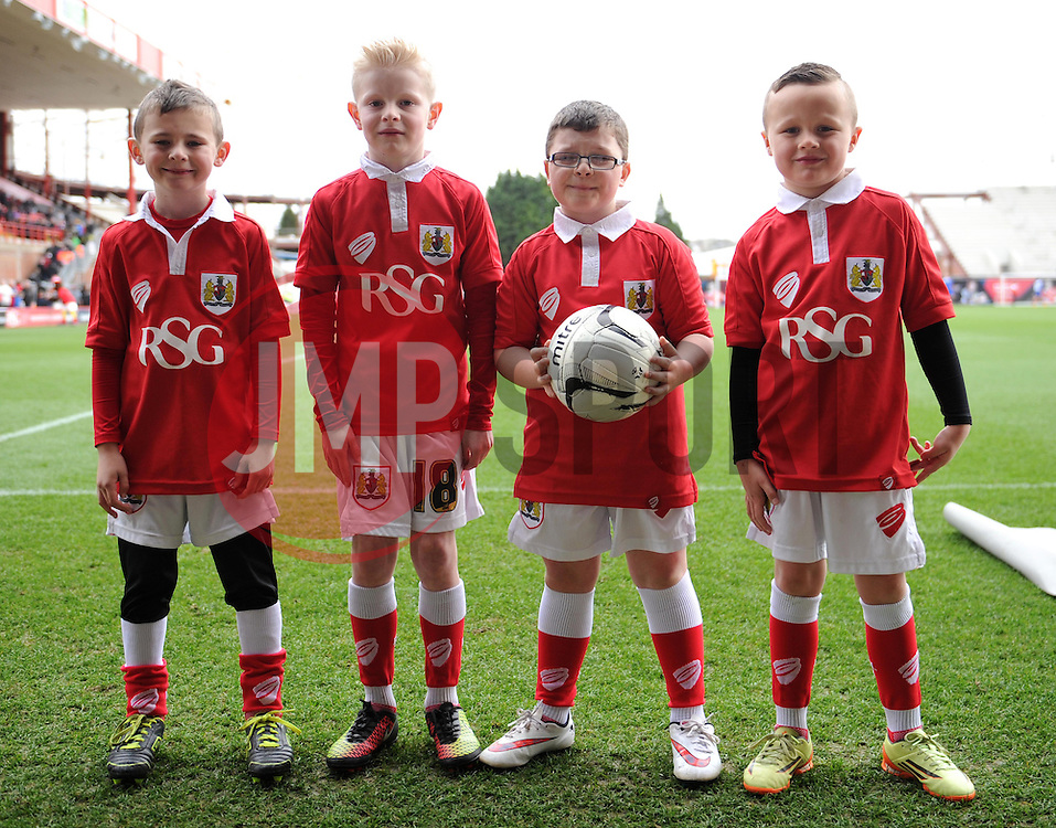 Mascots at Ashton Gate for the Sky Bet League One game between Bristol City and Rochdale on 28 February 2015 in Bristol, England - Photo mandatory by-line: Paul Knight/JMP - Mobile: 07966 386802 - 28/02/2015 - SPORT - Football - Bristol - Ashton Gate Stadium - Bristol City v Rochdale - Sky Bet League One