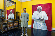 The Naked and the Nude - The first solo show in London by Venezuelan painter, Rodolfo Villaplana (pictured).  Highlights include Ratzinger Revisited, Oil on Canvas, 300x170cm, £25,000 (pictured). Supported by the Museum of Contemporary Art, the selling exhibition will take place at the 20th Century Theatre in Notting Hill, London, during Frieze Week from 16 - 19 October 2014. The young painter finished his MA studies at the Chelsea College of Art in 2013 and 'has gone from strength to strength since'. He has been endorsed by the Young Masters 2013 panel and his debut solo show 'Anarchivolto' ran in Venice, throughout the Venice Architecture Biennale in Sant'Erasmo.