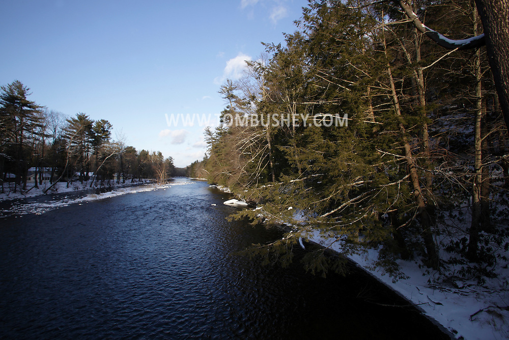 Myers Grove, New York -  A view of the Neversink River on a winter afternoon on Jan. 9, 2011.