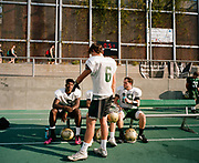 BRIMINGHAM, AL – NOVEMBER 1, 2016: High school athletes on the Mountain Brook Spartans football team practice on their home turf in preparation for the 2016/2017 season.
