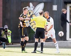 Falkirk's Phil Roberts shouts at ref Salmond.<br /> Alloa Athletic 3 v 0 Falkirk, Scottish Championship game played today at Alloa Athletic's home ground, Recreation Park.<br /> &copy; Michael Schofield.