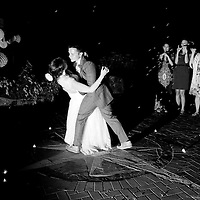 Travis and Amy's first dance at their Vancouver Island wedding in Sooke, British Columbia.