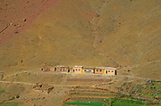 Small village school in Berber village in the Atlas Mountains, near Imlil, Morocco