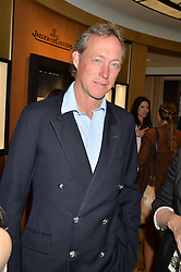 LORD CHARLES BERESFORD at the draw for the Jaeger-LeCoultre Gold Cup held at Jaeger-LeCoultre, 13 Old Bond Street, London on 8th June 2015.