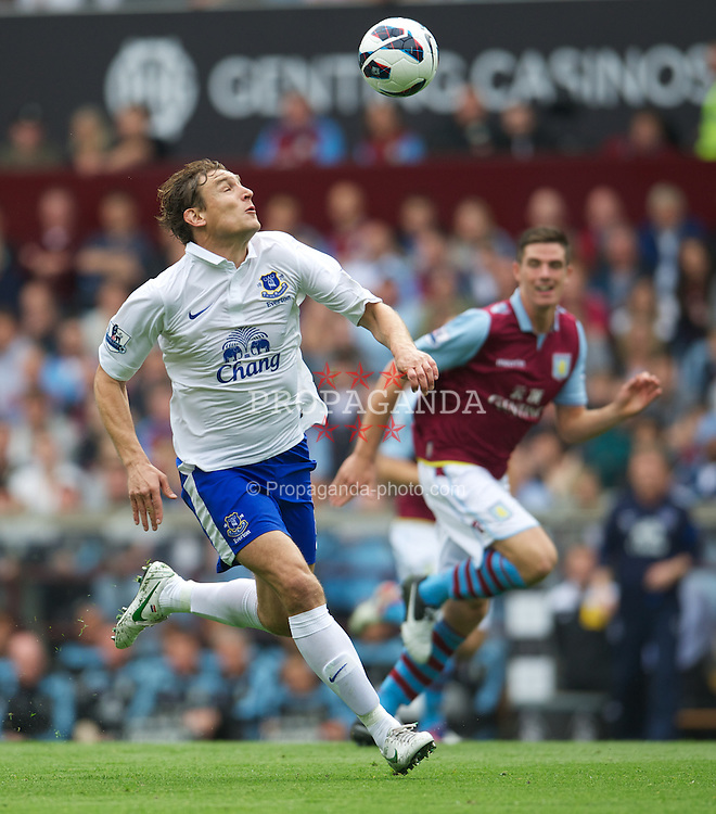 BIRMINGHAM, ENGLAND - Saturday, August 25, 2012: Everton's Nikica Jelavic in action against Aston Villa during the Premiership match at Villa Park. (Pic by David Rawcliffe/Propaganda)