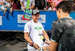 Winner Aljaz Bedene of Slovenia with fans after the Final match at Day 10 of ATP Challenger Zavarovalnica Sava Slovenia Open 2019, on August 18, 2019 in Sports centre, Portoroz/Portorose, Slovenia. Photo by Vid Ponikvar / Sportida