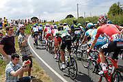 UK, July 7 2014: Action from just before Roxwell, Essex, during the Tour de France Stage 3 from Cambridge to London. Copyright 2014 Peter Horrell.