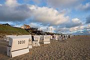 Strandkörbe at the beach.