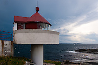 Norway, Rennesøy. Fjøløy lighthouse.