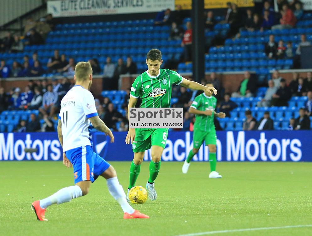 Celtic's Tomas Rogić  fires in an unstoppable shot to put celtic in front during the Kilmarnock FC V Glasgow Celtic FC Scottish Premiership 12th August 2015 ©Edward Linton | SportPix.org.uk