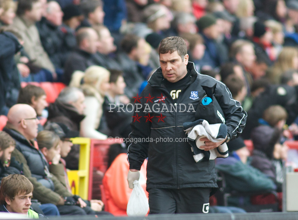 LONDON, ENGLAND - Saturday, March 5, 2011: Tranmere Rovers' Physio George Cain comes out for the second half during the Football League One match at The Valley. (Photo by Gareth Davies/Propaganda)