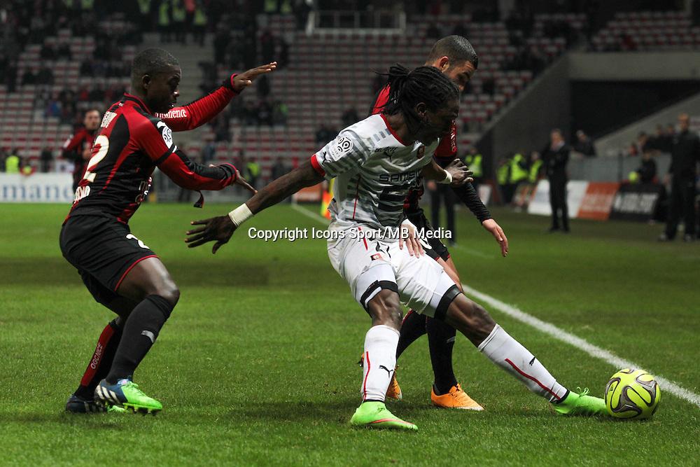 Nampalys MENDY / Habib HABIBOU / Valentin Eysseric - 03.12.2014 - Nice / Rennes - 16eme journee de Ligue 1 -<br /> Photo : Jean Christophe Magnenet / Icon Sport
