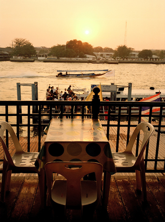 Sunset on the Chao Phraya river