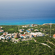 Aerial view of Xcaret park.<br />