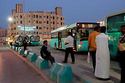 QATAR DOHA 11FEB07 - Public Bus Terminal in the Souk area, Doha, Qater...jre/Photo by Jiri Rezac..© Jiri Rezac 2007
