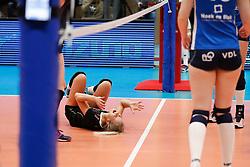 20180218 NED: Bekerfinale Eurosped - Sliedrecht Sport, Hoogeveen <br />Judith Kamphuis (3) of Team Eurosped blessure<br />©2018-FotoHoogendoorn.nl