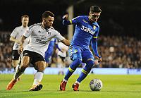 Football - 2017 / 2018 Sky bet Championship - Fulham v Leeds United<br /> <br /> Pablo Hernandez of Leeds and Ryan Fredericks of Fulham, at Craven Cottage<br /> <br /> COLORSPORT/ANDREW COWIE