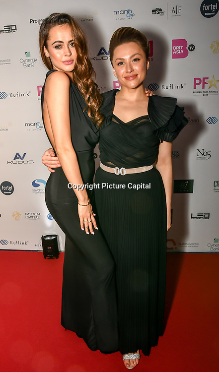 Bethan Wright and Kay Lovelle attend the BritAsiaTV Presents Kuflink Punjabi Film Awards 2019 at Grosvenor House, Park Lane, London,United Kingdom. 30 March 2019