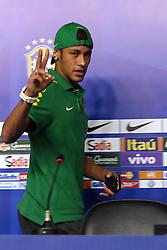 Neymar Jr. durante treino da Seleção Brasileira no Centro de Capacitação Física do Corpo de Bombeiros, em Brasília, DF. A seleção enfrenta o Japão no próximo dia 15 na abertura da Copa das Confederações. FOTO: Jefferson Bernardes/Preview.com