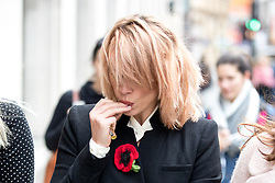 © Licensed to London News Pictures. 08/11/2017. London, UK. Billie Piper arriving at the Central Family Court today. Photo credit : Tom Nicholson/LNP