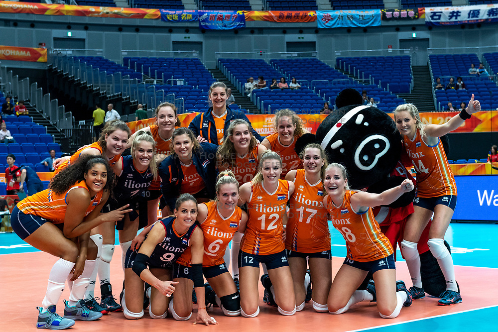 03-10-2018 JPN: World Championship Volleyball Women day 5, Yokohama<br /> Argentina - Netherlands 0-3 / Team NL after 3-0 win