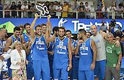 TRENTO 09/08/2013 - TRENTINO BASKET CUP ITALIA-POLONIA<br /> NELLA FOTO SQUADRA<br /> FOTO CIAMILLO