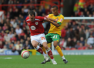 Bristol - Saturday, October 18th, 2008: Gavin Williams of Bristol City and Ryan Bertrand of Norwich City during the Coca Cola Championship match at Ashton Gate, Bristol. (Pic by Alex Broadway/Focus Images)