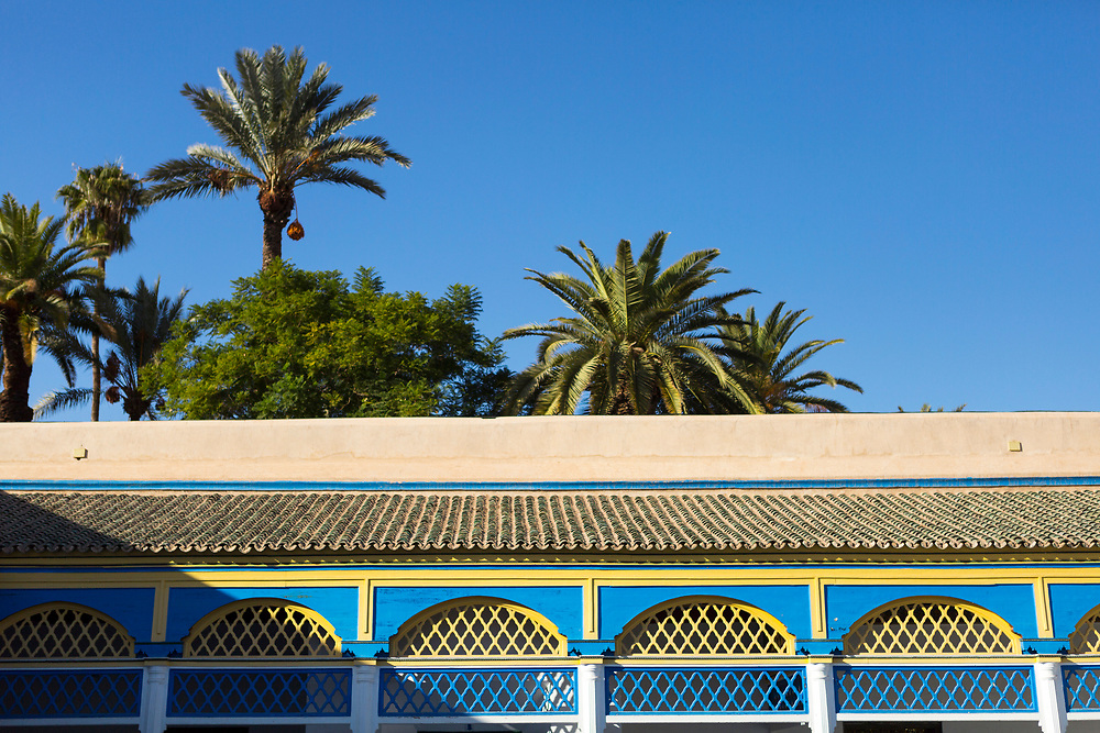 Bahia Palace Riad Architecture, Marrakesh, Morocco, 2017–11-17.