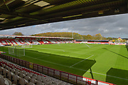 Lamex Stadium during the EFL Sky Bet League 2 match between Stevenage and Forest Green Rovers at the Lamex Stadium, Stevenage, England on 21 October 2017. Photo by Adam Rivers.