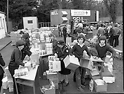 1982<br /> 27.02.1982<br /> 02.27.1982<br /> 27 Feb 1982<br /> Red Cross Food Packs for Poland at Ratra House, Phoenix Park, Dublin.  <br /> Red Cross Staff and Volunteers pack the food into cartons for distribution.