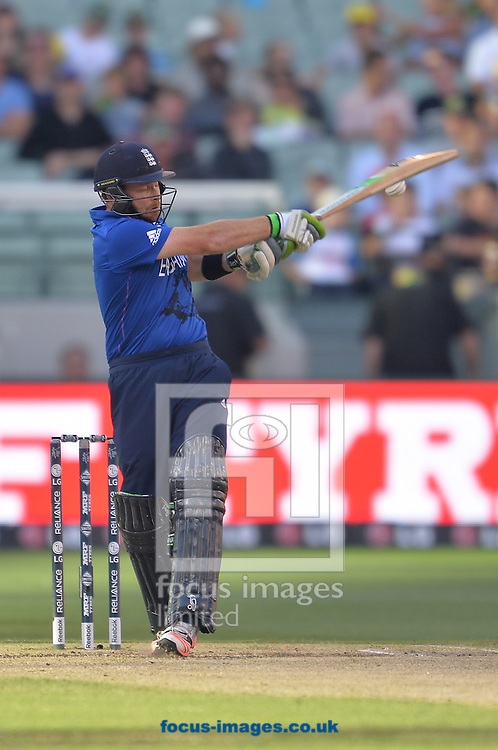 Ian Bell of England bats during the 2015 ICC Cricket World Cup match at Melbourne Cricket Ground, Melbourne<br /> Picture by Frank Khamees/Focus Images Ltd +61 431 119 134<br /> 14/02/2015