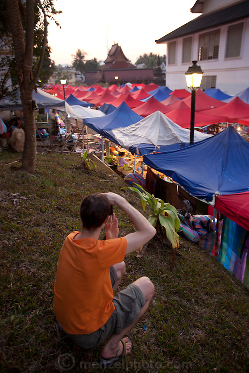 Night market, Luang Prabang, Laos.
